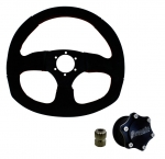 Suede D - Quick Release Steering Wheel Kit